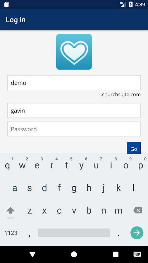 ChurchApp- screenshot