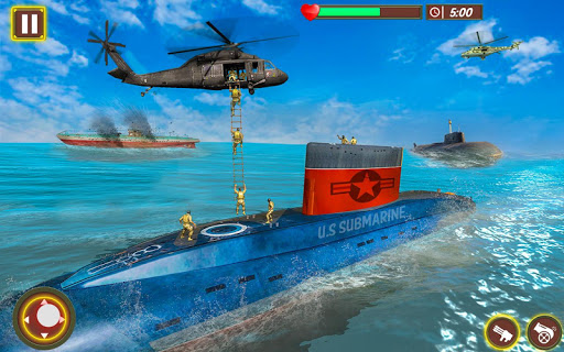 US Army Submarine Simulator : Navy Army War games App Report on