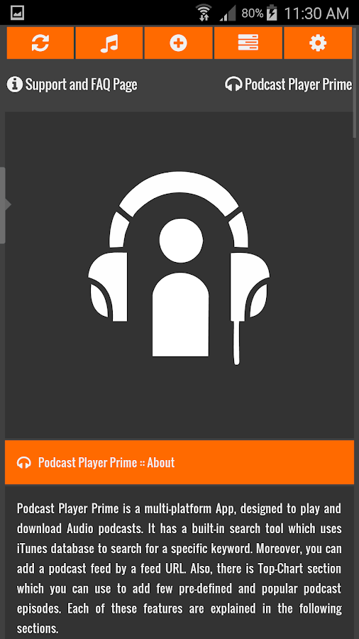 Podcast Player Prime- screenshot