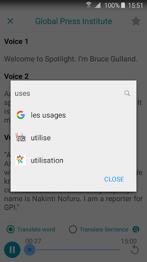 Translate All Languages by Google, Yandex, Glosbe 1.2.9 screenshots 8