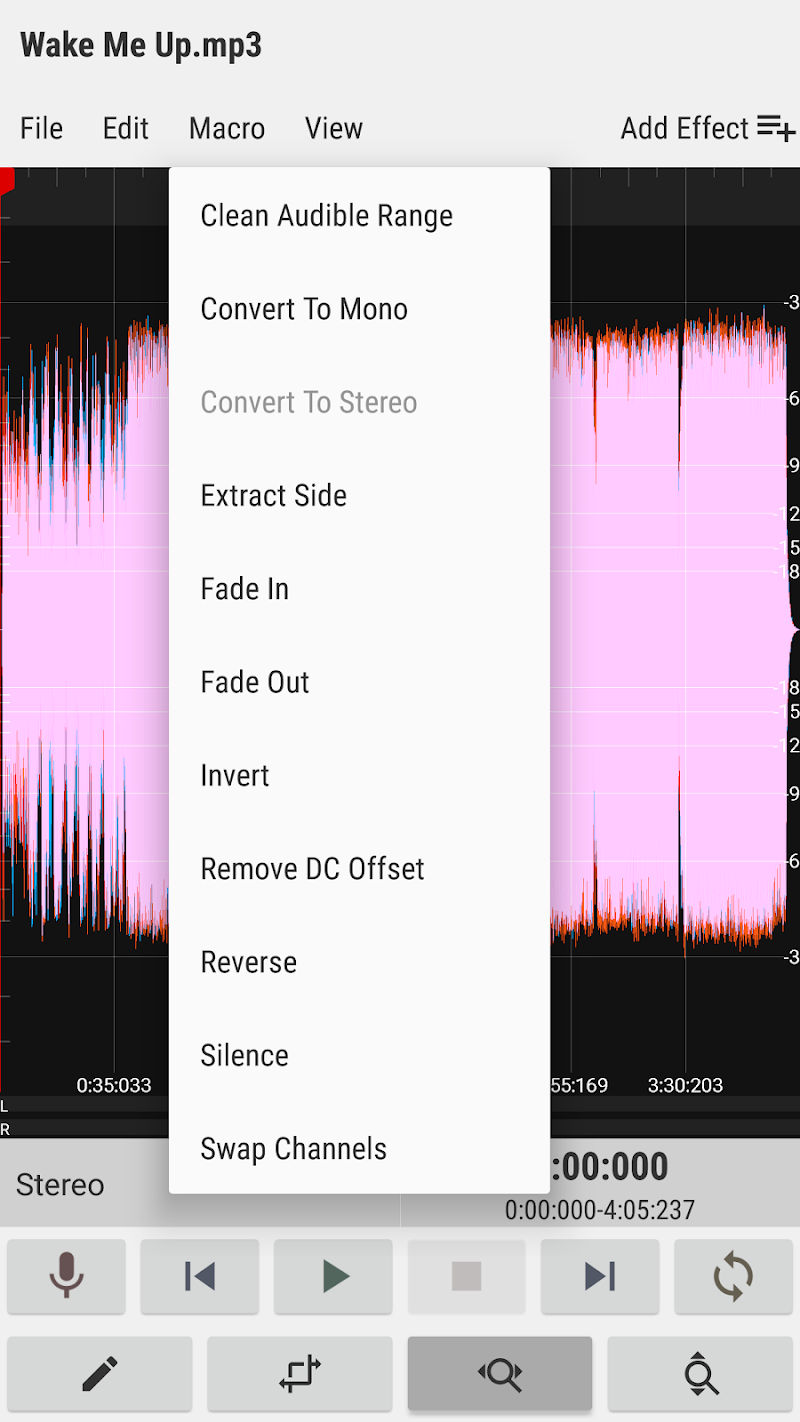 WaveEditor for Android™ Audio Recorder & Editor Screenshot 6