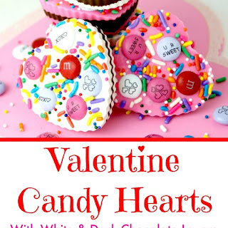 Sweet Candy Hearts with Dark Chocolate Recipe