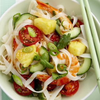 Pineapple and Prawn Noodles with Chili Lime Dressing.
