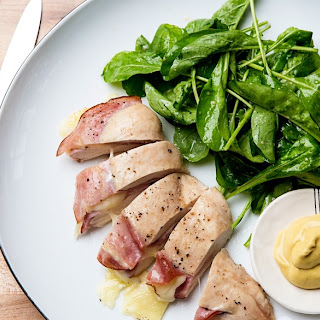 3-Ingredient Chicken Breasts Stuffed with Ham and Cheese recipe | Epicurious.com.