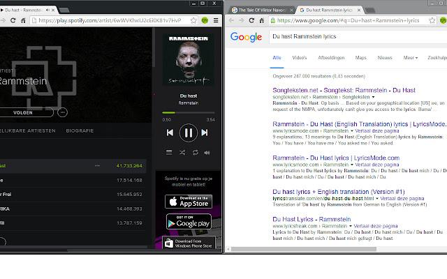 Spotify lyrics searcher