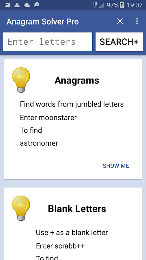 Anagram Solver Pro- screenshot