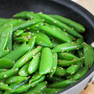 Sesame Garlic Snap Peas