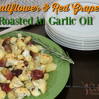 Cauliflower And Red Grapes Roasted In Garlic Oil