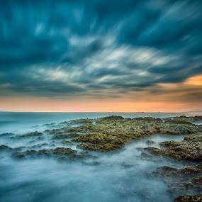 Afternoon Citepus by M. Tuflichun Alfath - Landscapes Waterscapes ( water, sky, waves, landscape photography, rocks )