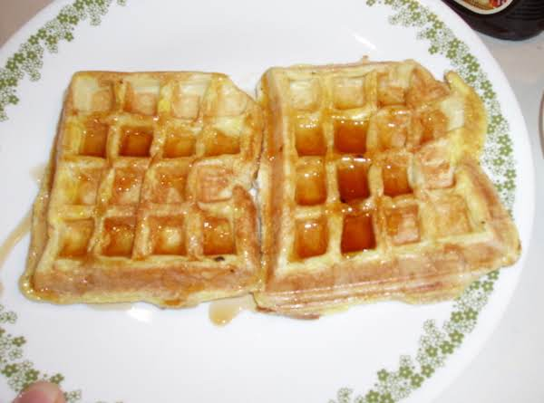 French Toast Made In A Waffle Machine