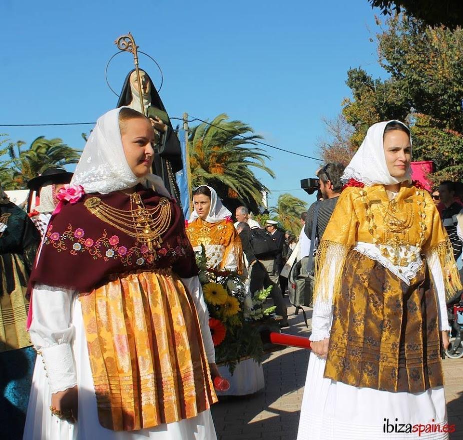 Procesión de la Virgen patrona de Santa Inés Ibiza