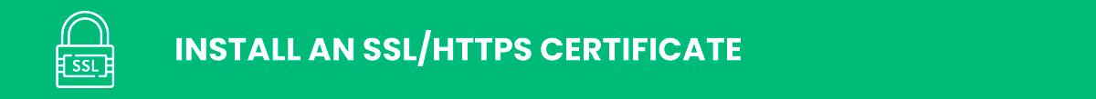 Install an SSL/HTTPS Certificate wordpress security