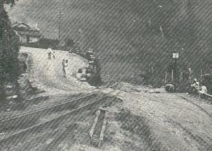 Photo: Estrada de Ferro Leopoldina Railway. Final da subida da serra. Foto de 1926