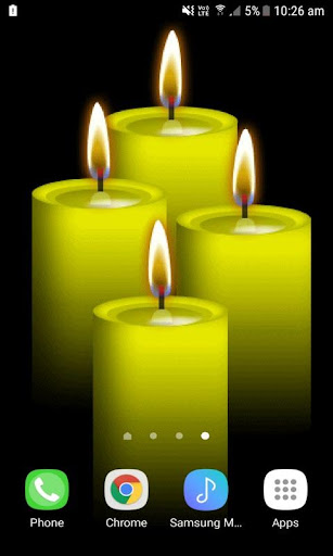 yellow candles live wallpaper screenshot 2