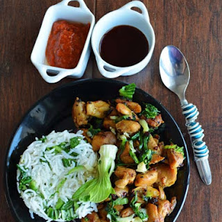 Sauteed Chicken with Bok Choy.