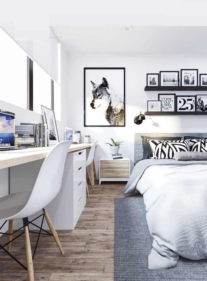 thiết kế nội thất phòng ngủ chung cư 90m2