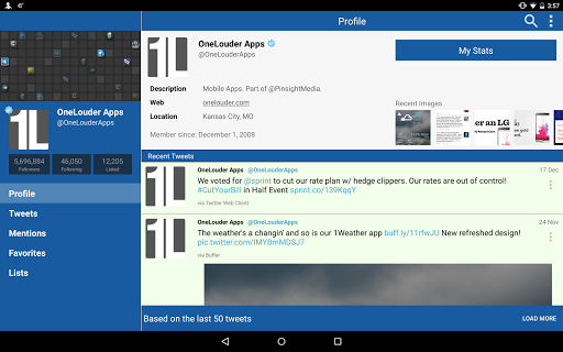 Screenshot for TweetCaster Pro for Twitter in Hong Kong Play Store
