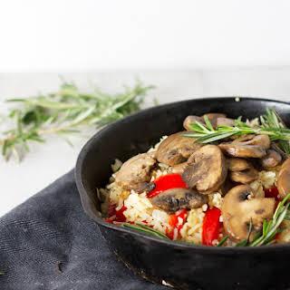 Rosemary and Mushroom Rice Pilaf.