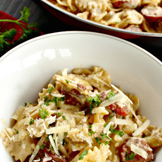 New Orleans Style Smoked Sausage Alfredo.