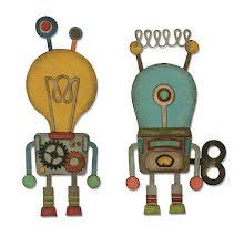 Tim Holtz Sizzix Thinlits Die Set 14PK - Robotic 19-01