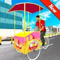 City Ice Cream Man Free Delivery Simulator Game 3D icon