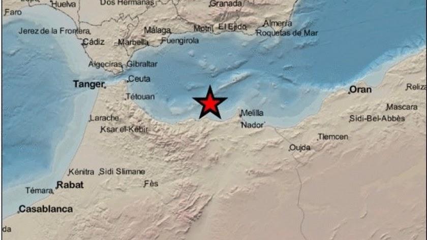 Imagen del Instituto Geográfico Nacional (IGN) sobre el seísmo de magnitud 3,0 en la escala Richter registrado el 11 de agosto.