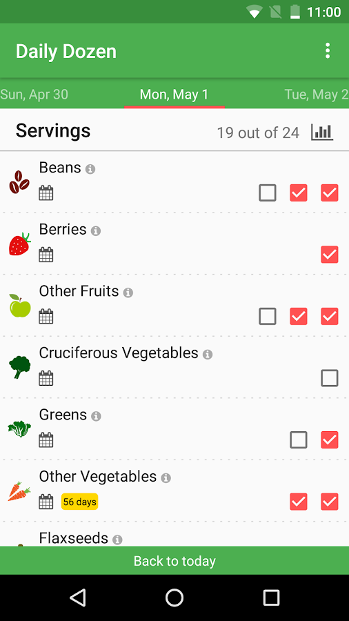 Dr. Greger's Daily Dozen- screenshot