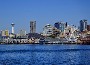 Photo: View of Seattle from the water taxi.