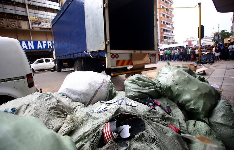 Police seized counterfeit goods manufactured in a small room in downtown Johannesburg.