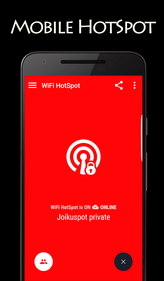 JoikuSpot WiFi HotSpot- screenshot