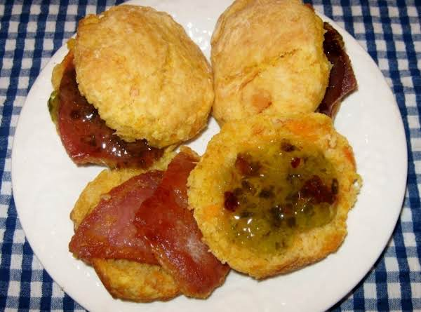 Sweet Potatoe Biscuits With Salt Cured Country Ham And Jalapeno Pepper Jelly