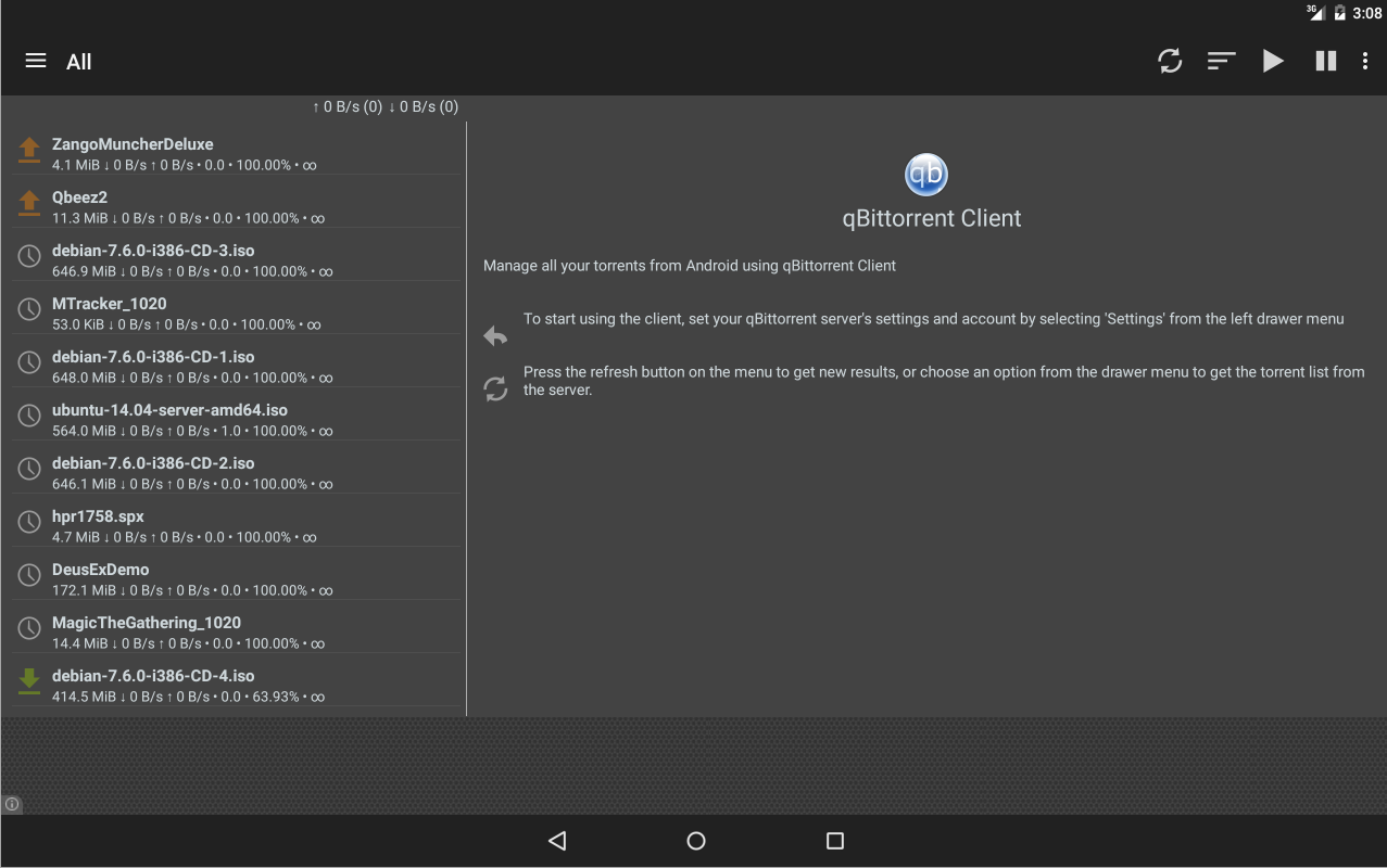 qBittorrent Controller- screenshot