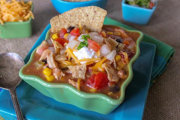 Kickin' Chicken Taco Soup Recipe