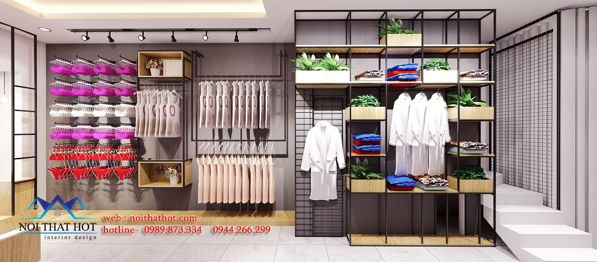 thiết kế shop đồ lót cao cấp