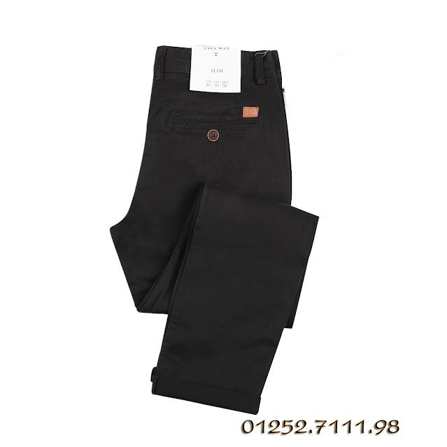 quần kaki nam hàng hiệu chất vải co giãn hiệu zara