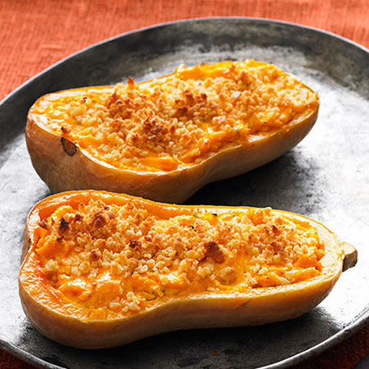 Cheesy Stuffed Butternut Squash
