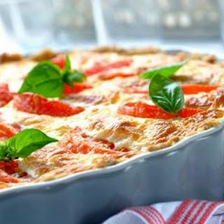 Quiche mit Tomaten und mediterranen Kräutern