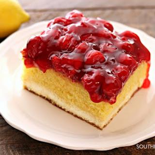 Magic Lemon Cherry Cheesecake.
