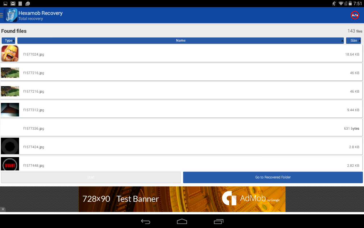 Hexamob Recovery- screenshot