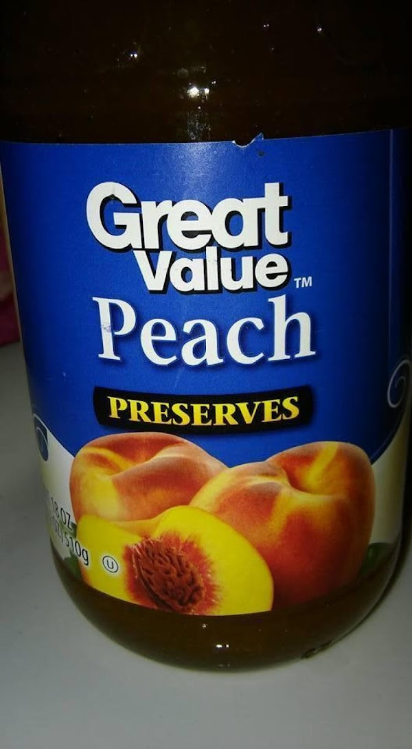 Peach jam:  (if chunky: put in blender with 1 TBS. clear corn syrup...