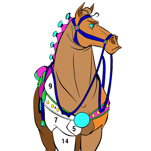 Horse Color by Number - Adult Coloring Book pages Icon