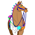 Horse Color by Number - Adult Coloring Book pages