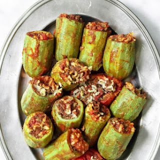 Middle Eastern Stuffed Zucchini.