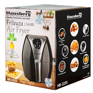 Friteuza Air Fryer Hausberg HB 2255, 1500 W, 2.6 L