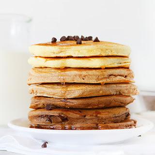 Vanilla Cinnamon Chocolate Ombre Pancakes