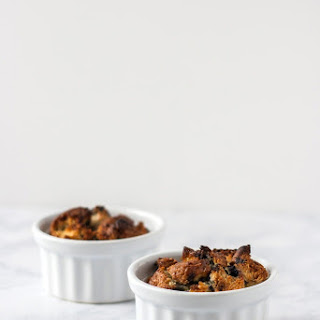 Easy Blueberry Bread Pudding for Two