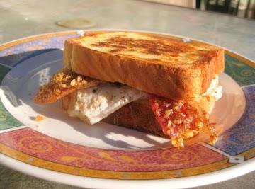 Praline Bacon, Egg And Swiss Cheese Sandwich Recipe