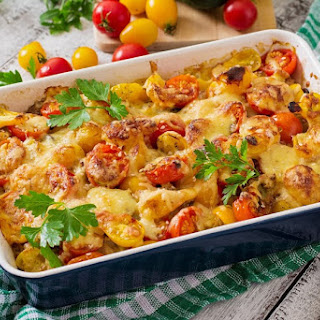 Tomato Zucchini Mushroom Casserole