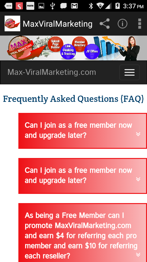 MaxViralMarketing- screenshot