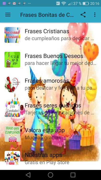 Frases Bonitas De Cumpleaños 2 Android Sovellukset Appagg